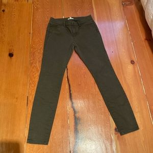 Eileen Fisher olive green skinny jeans SZ 6